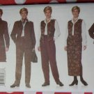 J G hook wardrobe Misses Jacket Vest Pants & Wrap-skirt Butterick 5199 Pattern, Size 14 16 18, Uncut