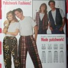 Butterick 6872 Patchwork Unisex Vest & Pants Pattern, Size XS to XL, Uncut
