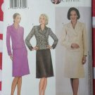 Misses Lined Double Breasted Jacket A Line Skirt Butterick 3637 Pattern, Size 14 16 18, Uncut