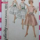 60s Rockabilly Dress, Cummerbund, Jacket Simplicity 4795 Sewing Pattern, Teen 10, Bust 30, Uncut