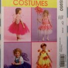 McCalls M5950 Toddler/Girl No Sew Fairy Costume & Tutu, sz 4 5 6, Uncut