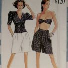 New Look 6120 Misses' Bandeau Top, Shirt & Shorts Pattern, Size 8 to 20, Uncut
