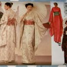 Easy Unisex Japanese Robe Kimono Sash Obi Butterick 6698 Sewing Pattern, Sizes XS to XL, Uncut