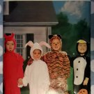 Toddler Bunny Devil Tiger Penguin Costume Butterick 4289 Pattern Sz. 1 - 4