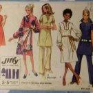 Vintage 1970s Dress in 2 Lengths & Pants Simplicity 9057, Size 14, Uncut