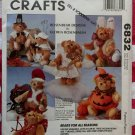 "Rosenbaum Bears For All Seasons 11"" Teddy Bear & Clothes McCall's 6832 Pattern , Uncut"
