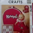 Kewpie Doll Clothes & Accessories Pattern McCalls 3072, Uncut