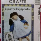 OOP McCall's 4186 Crafts Sophie Doll, Clothes & Baby Pattern, UNCUT