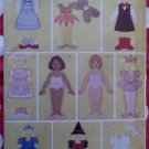 "Fabric ""Paper"" Doll and Clothes Butterick 3280 Pattern, Uncut"