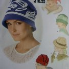 A New Vintage Looking Hats Mid Century Flapper Simplicity 1736 Sewing Pattern, Uncut