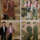 Child Costumes Cowboy, Pirate, 50's & Soldier Simplicity 3997 Pattern, Size 3 to 8, Uncut
