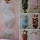 Baby Costume Swaddling Sacks and Hats Simplicity 1898 Pattern, Size XXS-XS infant, Uncut