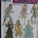 Costumes Fairy Indian Princess Pirate Lady Gypsy Simplicity 5363 Pattern, Plus Sz 14 To 20, Uncut