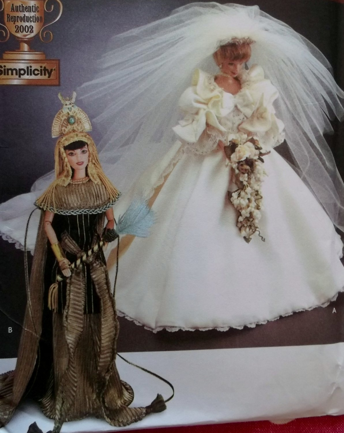 Diva Doll Collection 1 Princess Diana Wedding Gown And Cleopatra Simplicity 7
