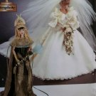 Diva Doll Collection 1  Princess Diana Wedding Gown and Cleopatra Simplicity 7077 Pattern, Uncut