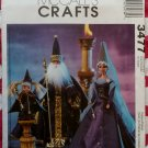 "11 1/2"" & 12"" Renaissance Wizards Fashion Doll Costumes Wardrobe McCall'S 3477 Pattern, Uncut"