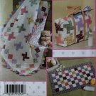Simplicity 4663 Crafts Quilt In A Day Diaper Bag, Baby Changing Pad and 37 X 42 1/2 Quilt