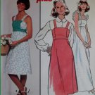 Easy Vintage 1970s Dress or Jumper Simplicity 8346 Pattern, Size 10 Uncut