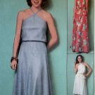 Easy 1970's Halter Top & Skirt in 2 Lengths Simplicity 8531 Pattern, Size 6 & 8, Uncut