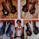 Misses Vest with Jewelry & transfers for Appliques Simplicity 9657 Pattern, Sz 6 8 10, Uncut