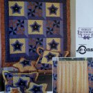 Simplicity Quilt Block Club Home Decor Pattern 9976 Star Bright & Pinwheels, UNCUT