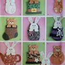 Bear Bunny Holiday Door Decorations Easter St. Patrick's Christmas Simplicity 4389 Pattern, Uncut
