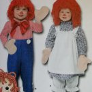 Toddler Raggedy Ann Andy Costumes  Simplicity 4003 Pattern, Sz  1/2 to 2,  UNCUT  OOP