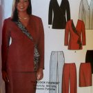 Misses Skirt Slim Pants Lined Jackets Sewing Pattern Simplicity 7100, Plus Size 14 16 18 20, Uncut
