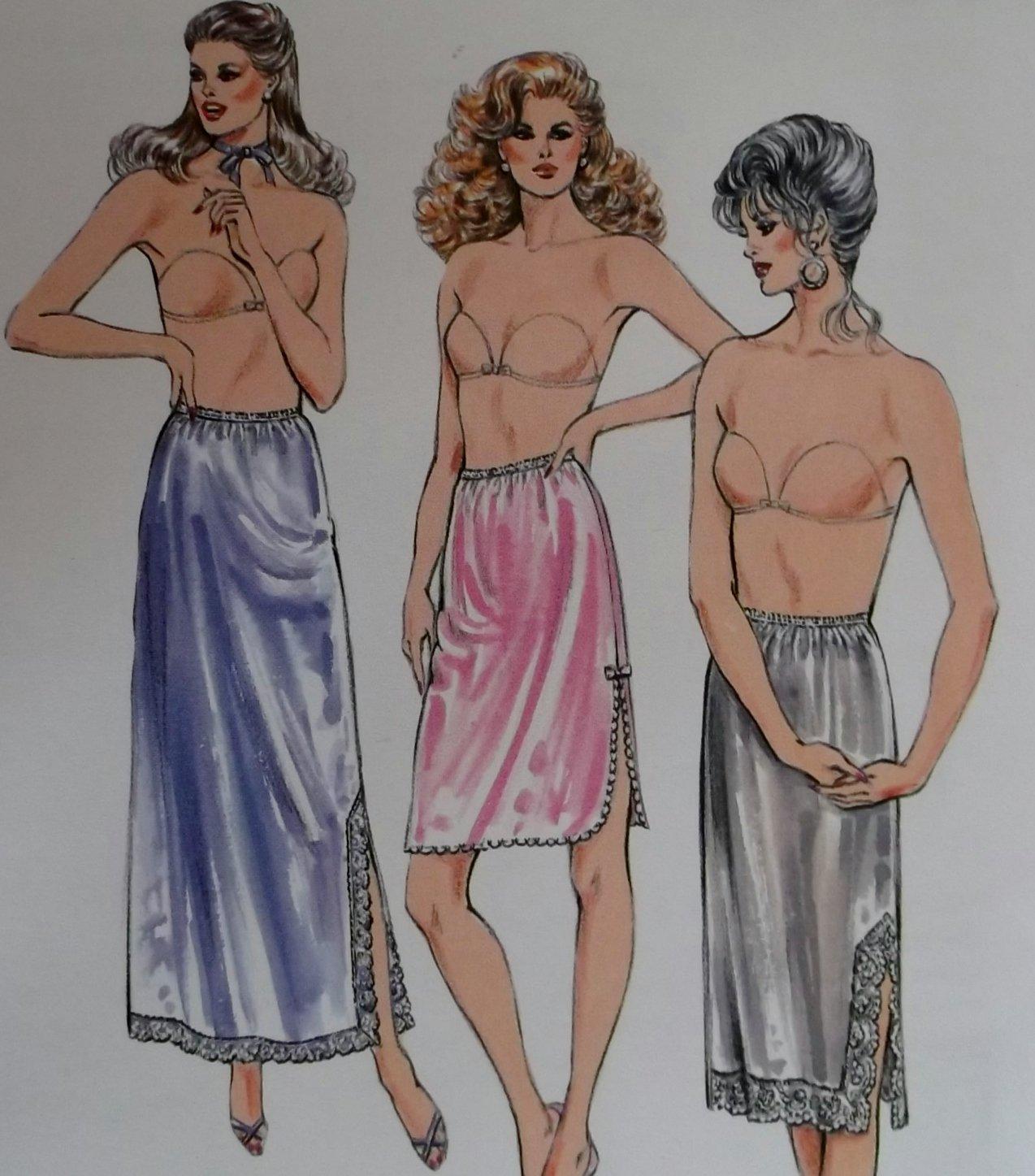 Misses' Half slips in three lengths KWIK Sew pattern 1555,  XS, S, M, L, XL, Uncut