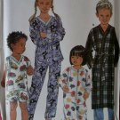 Easy Unisex Child's Pajamas, Sleeper & Robe Simplicity 9853 Pattern, Size 3 4 5 6, Uncut