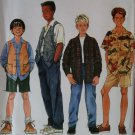 Simplicity 7224 Pattern, Boys Shirt Vest Pants Shorts, Sz 12 14, UNCUT
