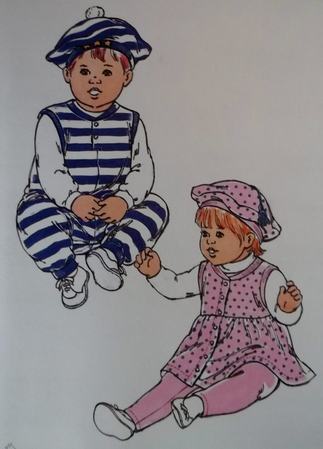 Baby Jumper, Jumpsuit, Leggings and Hat Kwik Sew pattern 2355,  XS, S, M, L, Unopened