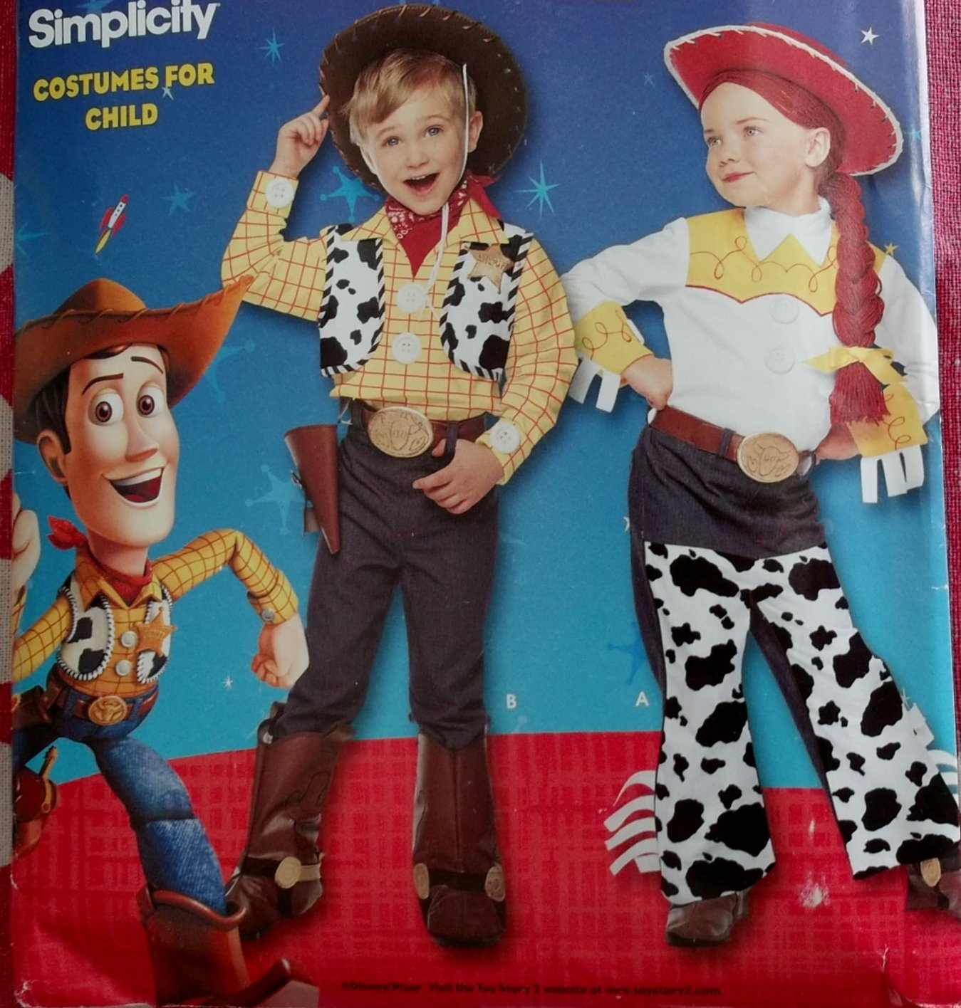 Disney Toy Story 2 Child's Costumes Sewing Pattern Simplicity 9433, Size 3 4 5 6 7 8, Uncut