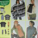 Simplicity 9822 Misses Poncho, Scarf, Hat, & Bag Pattern, One Size, Uncut