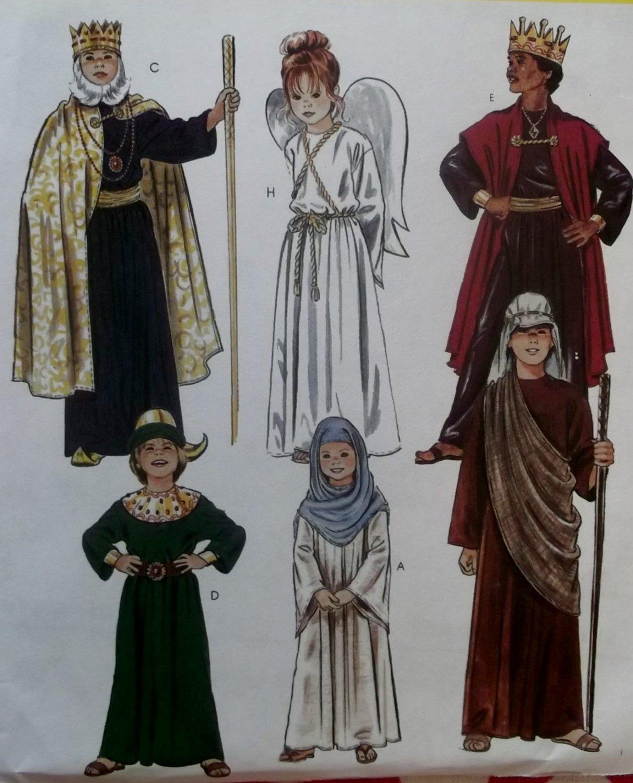 Mccalls 2340 Childs Nativity Costumes, Mary, Joseph, 3 Kings, Angel, Shepherd, Sizes 6, 8, UNCUT