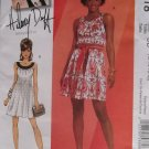 McCalls M5618 Hilary Duff Dress Lined with Belt Pattern, Sz 12-18 UNCUT