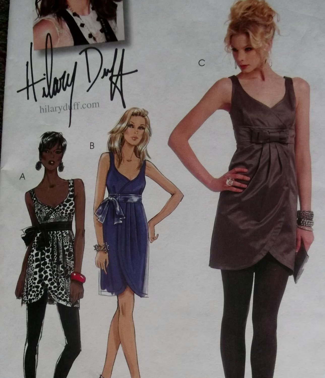 McCalls M5878 Pattern, Hilary Duff Misses' Tunic & Dresses, Sz 4-12 UNCUT