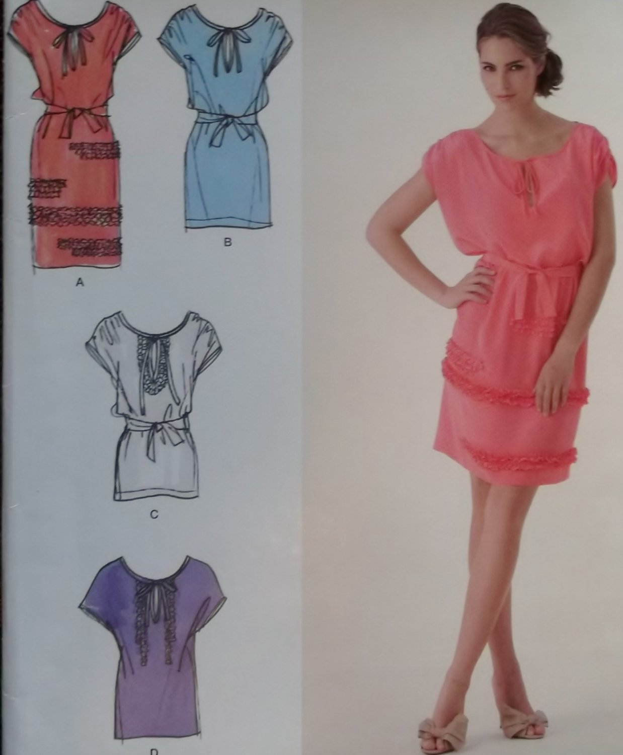 Cynthia Rowley Sewing Patterns: Simplicity 2361 Pattern, Cynthia Rowley Misses Pullover