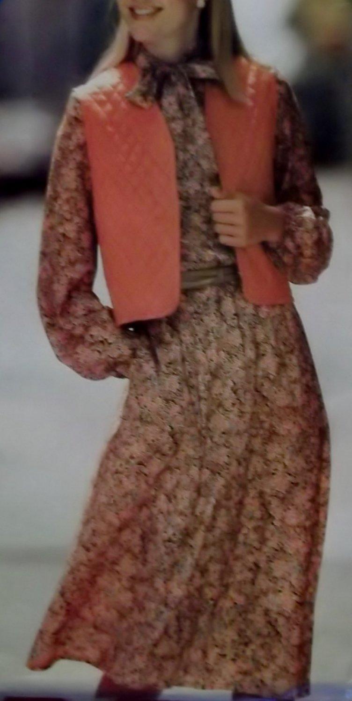 Misses Easy Dress & Vest Butterick 3536 Pattern, Size 8 10 12, UNCUT