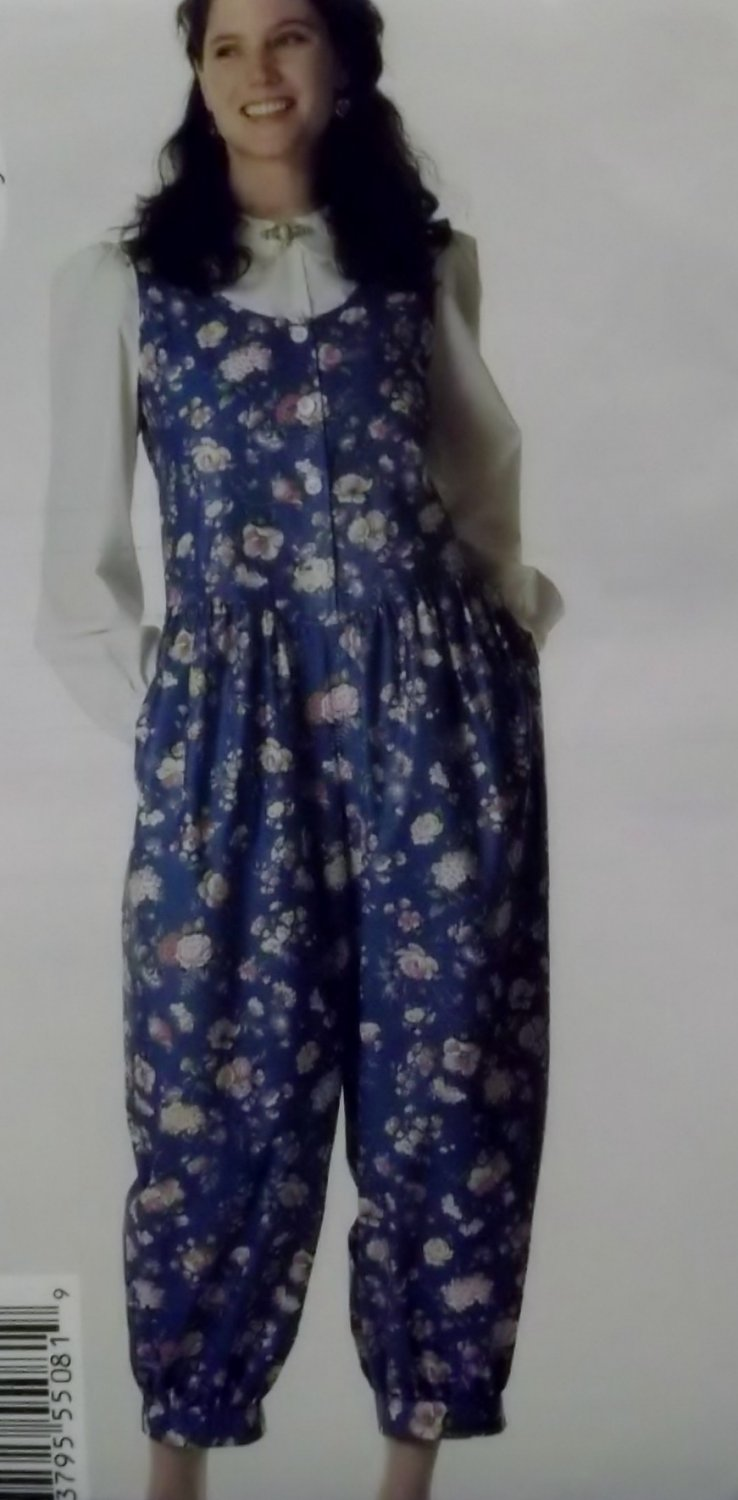 Easy Misses Jumpsuit and Blouse Butterick 5508 Pattern, Size 12 14 16, Uncut