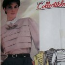 80s Easy Misses' front Tucks Blouse and tie McCalls 2072 Pattern, Size 6, Uncut