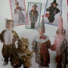Simplicity 9116 Pattern, Costume rooster chicken cowboy cow witch tiger lion & clown, Sz 1-4,  UNCUT