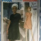 Pierre Balmain 70's Paris Original Dress Vogue 2338 Pattern Size 12, Bust 34