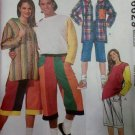 McCalls Sewing Pattern 6629 Unisex Jacket Tshirt & Shorts, Medium, Uncut