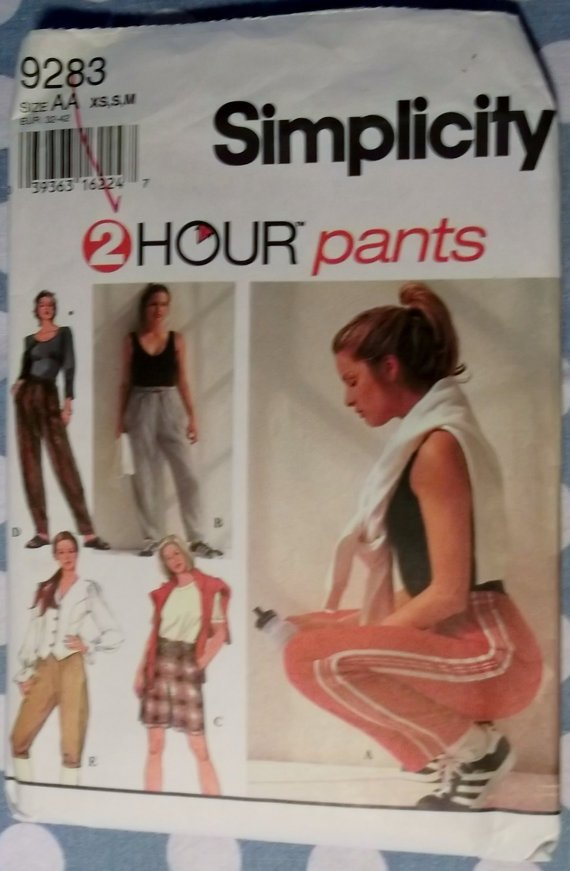 Misses Pants and Shorts Simplicity 9283 Pattern  Sizes 6 to 16, Uncut