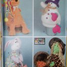 Seasonal 4 Holiday Basket Covers Easter Birthday Christmas Halloween Simplicity 7002 Pattern, UNCUT