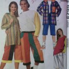McCalls Sewing Pattern 6629 Unisex Jacket Tshirt & Shorts, Large, Uncut