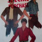 Simplicity 6630 Men's Casual Shirt Pattern, Sz 16, Chest 42, Uncut