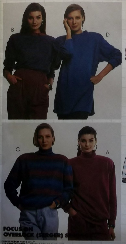 McCalls 4983 Nancy Zieman Top Pattern, Size 14 16, Uncut