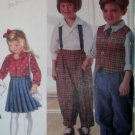 Childs  Pants, Skirt, Shirt & Lined Vest, Simplicity 8639 Pattern, Size 2 3 4, UNCUT
